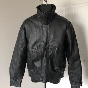 TOWN CRAFT BLACK LEATHER MENS JACKET